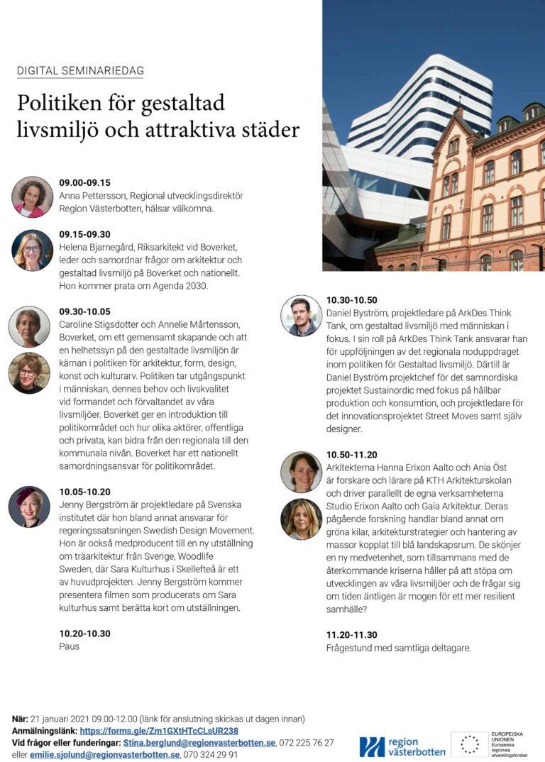 Seminarium om Gestaltad livsmiljö